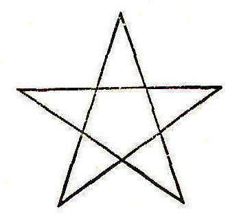 Drawing of a Pentagram