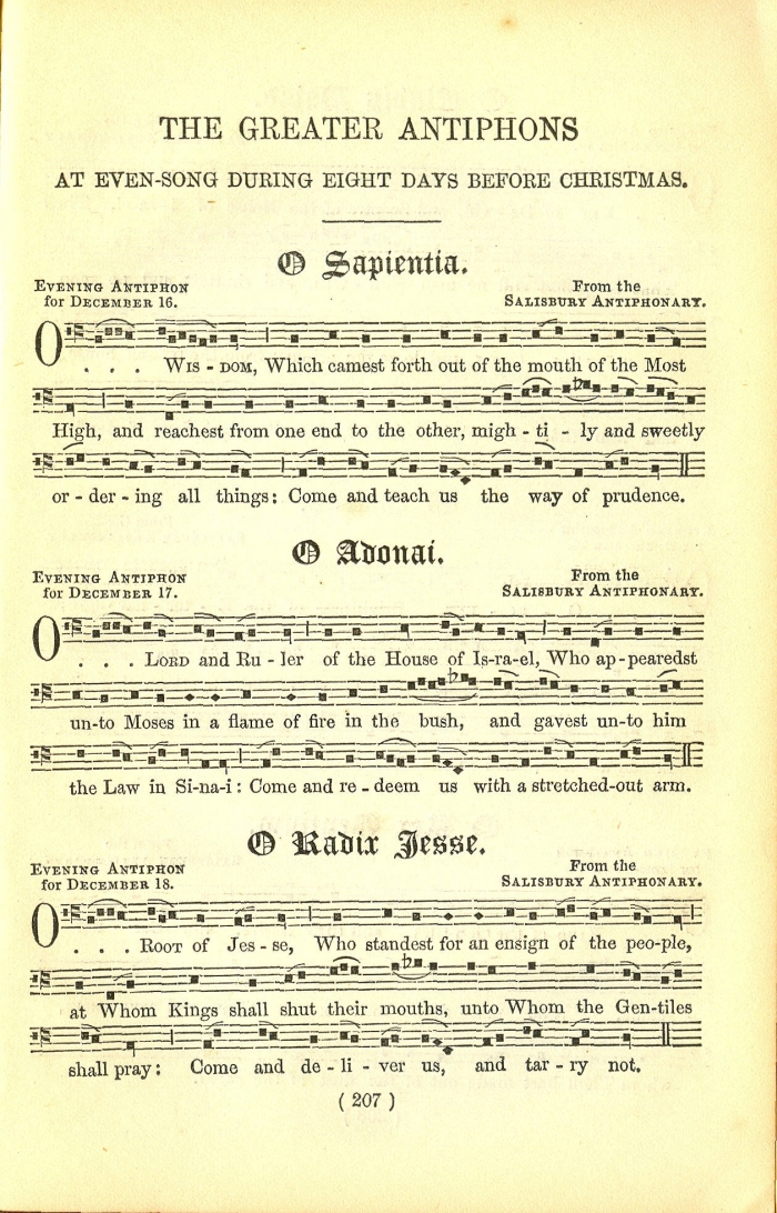 The Great Advent Antiphons