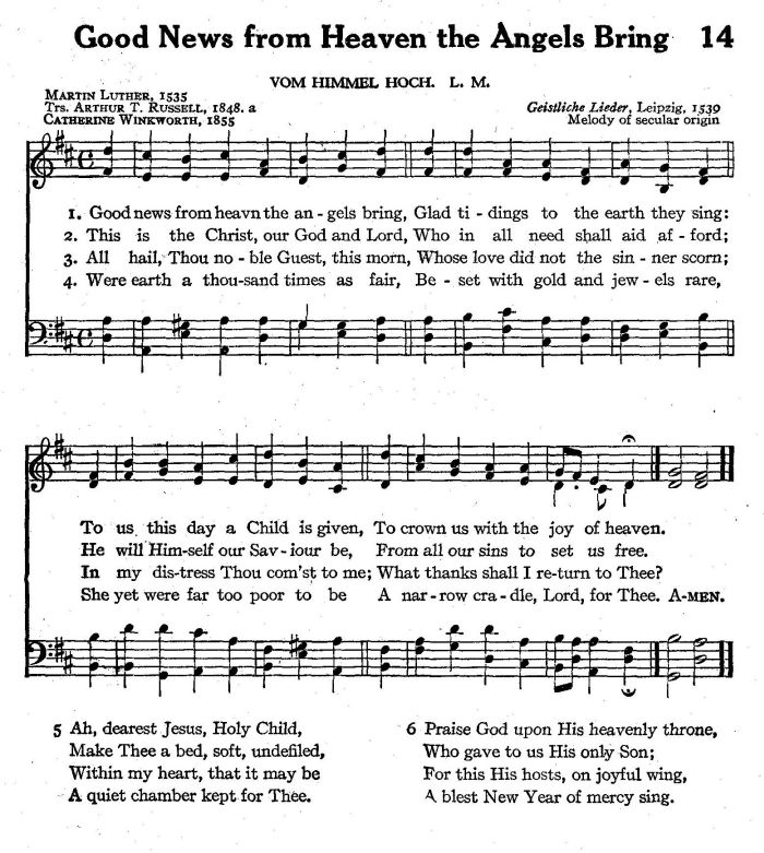 Be Our Guest Lyrics Sheet Music: Good News From Heaven The Angels Bring