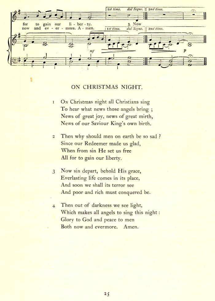 On christmas night version 1