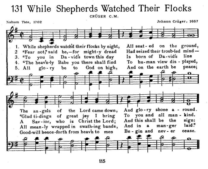 While Shepherds Watched Their Flocks - Gilbert