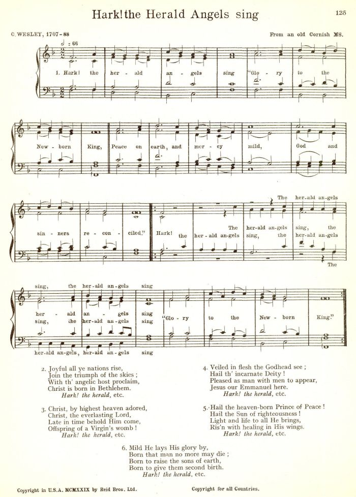 Hark The Herald Angels Sing - Version 1
