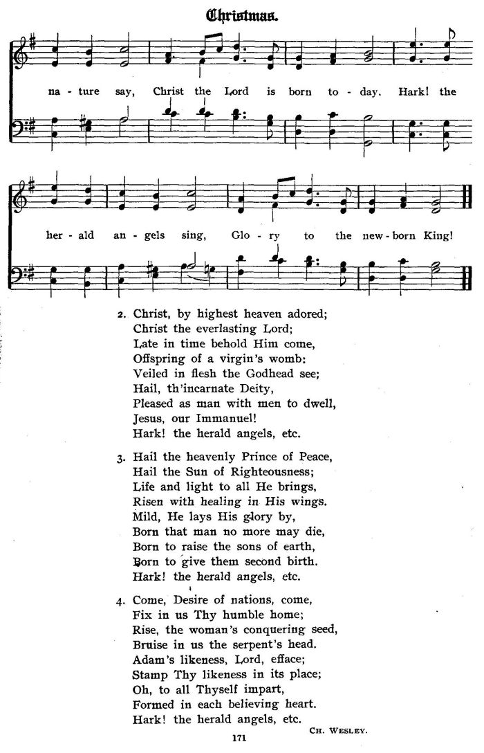 Hark The Herald Angels Sing Version 1