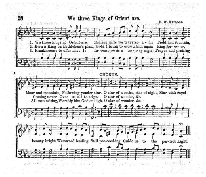 photo relating to We Three Kings Lyrics Printable referred to as We 3 Kings Of Orient Are