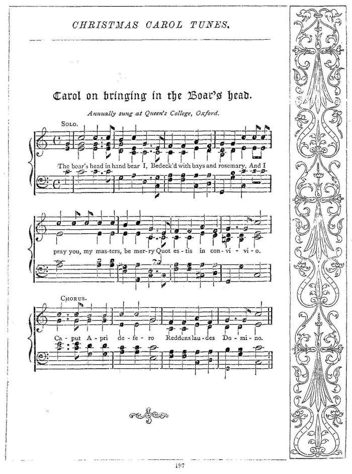 the boars head carol - British Christmas Songs