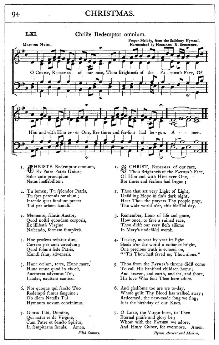 Lyric blessed redeemer lyrics : Christe, Redemptor Omnium