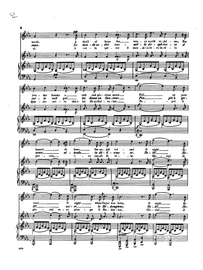 All Music Chords free french horn sheet music : Minuit Chrétiens