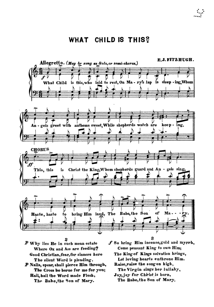 picture regarding Christmas Carol Lyrics Printable Booklet called What Little one Is This - Variation 1