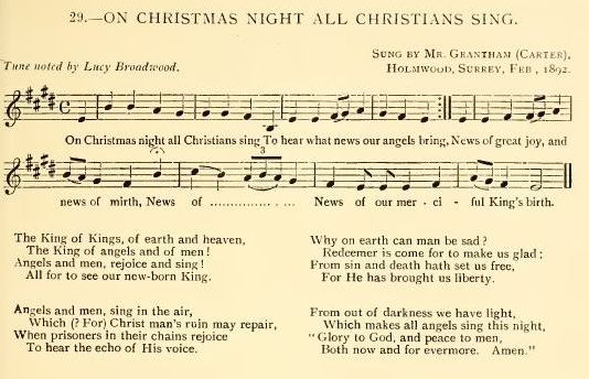 Light Of Christmas Lyrics.On Christmas Night Broadwood