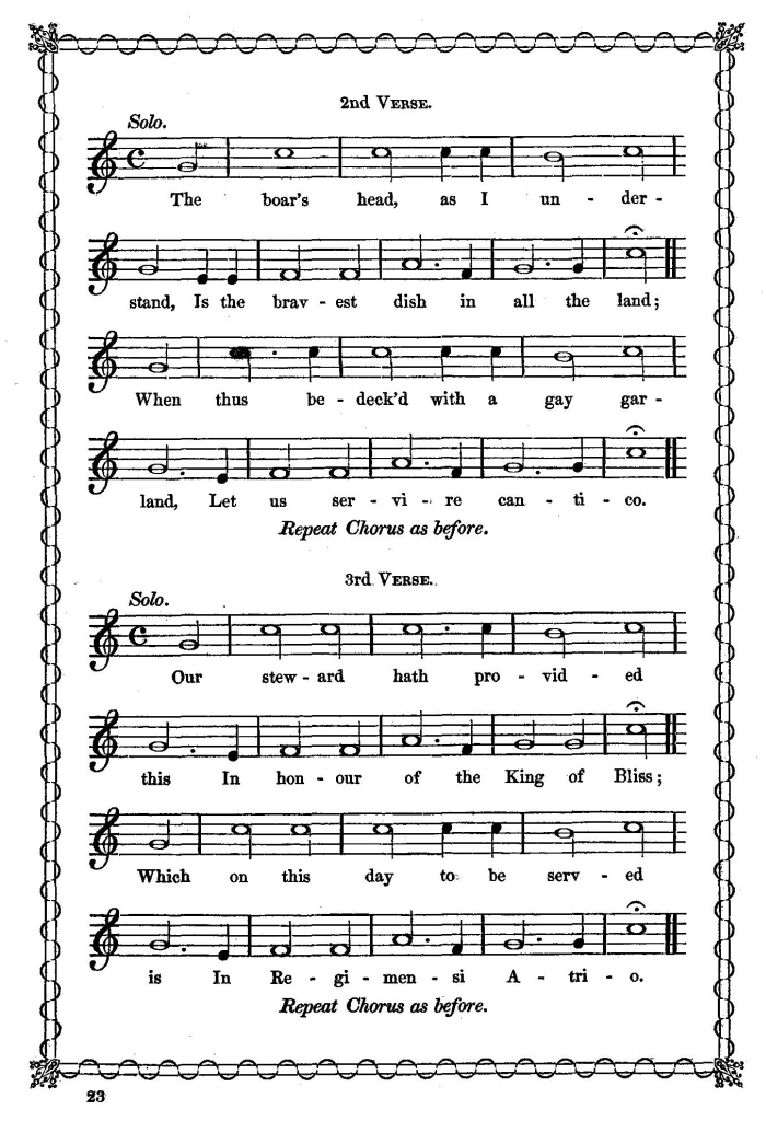 All Music Chords last date sheet music : Sheet Music to the Boar's Head Carols
