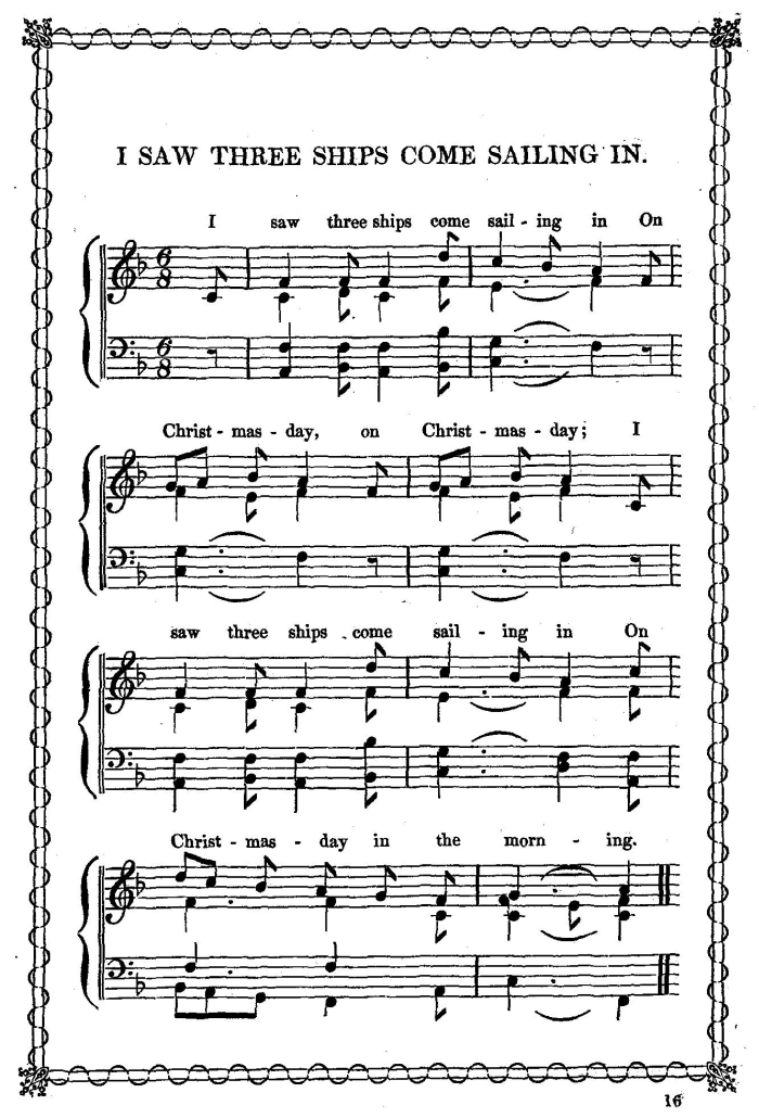sheet music from edward f rimbault a little book of christmas carols london cramer beale co 201 regent street no date circa 1847