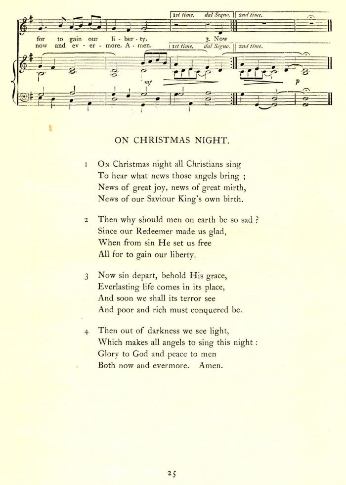 On christmas night all christians sing
