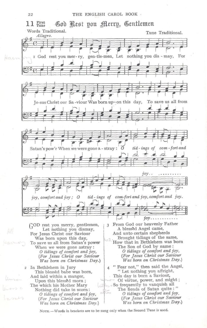 Lyric lyrics to same god : God Rest You Merry, Gentlemen - Version 1