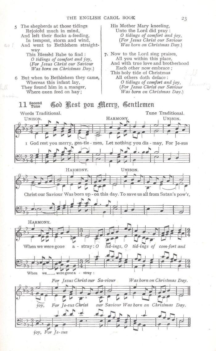 God Rest You Merry, Gentlemen - Notes
