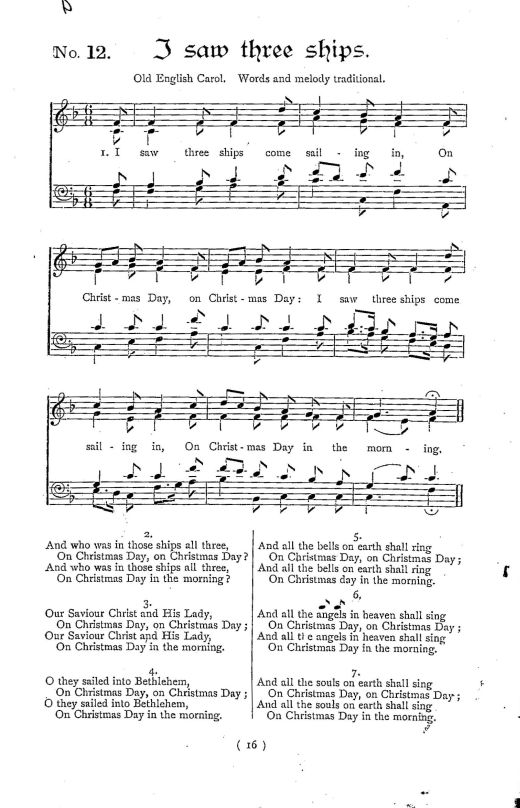 sheet music for we saw a light shine out a far the golden carol from william wallace fyfe christmas its customs and carols london james blackwood