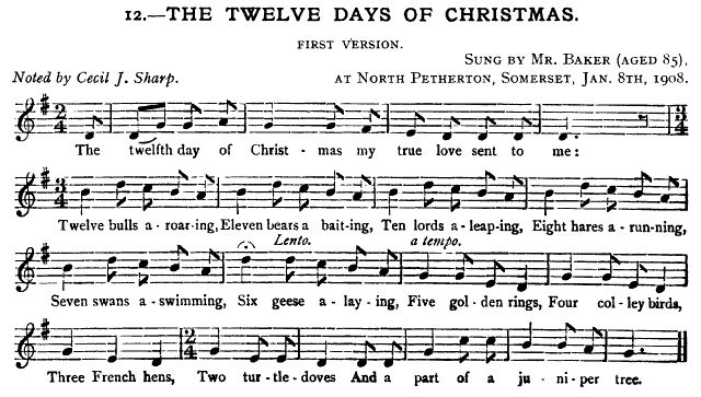 The Twelve Days of Christmas - JFSS 5