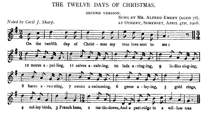 The Twelve Days Of Christmas Version 1. Jfsstwelvedays2277 70646 Bytes. Worksheet. 12 Days Of Christmas Worksheet At Clickcart.co