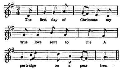 make their first attempt in it as a forfeit game the tune for each gift is the same in all repetitions so that the last verse contains the whole of - 12 Days After Christmas Lyrics