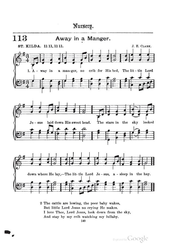 picture regarding Lyrics to Away in a Manger Printable known as Absent Inside of A Manger