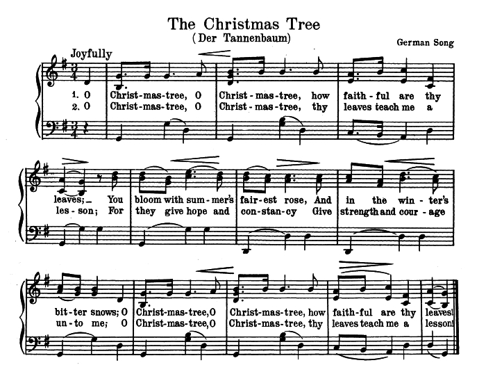 he also wrote that a song titled o christmas tree appeared in the progressive music series book one compiled by horatio w parker and published by the - Oh Christmas Tree How Lovely Are Your Branches Lyrics