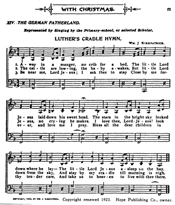 graphic about Lyrics to Away in a Manger Printable identified as Absent Inside A Manger